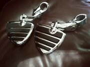 Chrome Motorcycle Wing Foot Pegs Footrests L+r For Harley-davidson