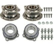 Front And Rear Wheel Bearings And Bolts And Nuts Kit For Bmw E70 F15 X5 X6
