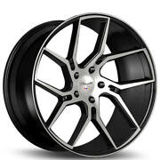 4ea 20 Staggered Gianelle Wheels Dilijan Gloss Black Machined Rimss45