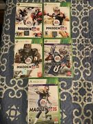 Microsoft Xbox 360 Madden Game Lot Madden 10 11 12 13 And 15