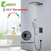 Luxury Shower Faucets Waterfall Thermostatic 3 Ways Valve Batheroom Faucet Sets
