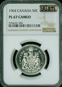 1964 Canada 50 Cents Ngc Pl67 Ucam Cameo 2nd Finest Mac Spotless
