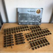 Lgb Model Train Catalog And Mixed Lot Of 6 G-scale Track Pieces