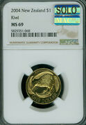2004 New Zealand Bronze 1 Ngc Ms-69 Mac Solo Finest Grade Spotless 2800 Minted