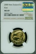 2000 New Zealand Small 1 Ngc Ms-69 Mac Solo Finest Grade Spotless 4500 Minted