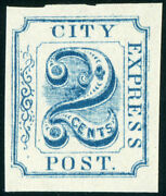 Us Local Post Stamp 2l5 City Express Post Pf