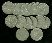 1924 Canada 5 Cents Roll Of 15 Coins Grades Vf To Ef Average Vf