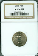 2006-p Monticello Nickel Ngc Ms66 Fs 2nd Finest Registry