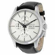 G-timeless Chronograph Automatic Black Leather Menand039s Watch Ya126265