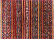 Super Kazak Khorjin Hand Knotted Wool Rug 5and039 8 X 7and039 10 - Q5449
