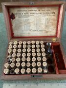 Antique Wood Cased Boericke And Tafel Homeopathic Pharmacists Medicines Box