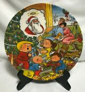 Vintage 1980 Family Circus Christmas Plate W/ Certificate In Original Box
