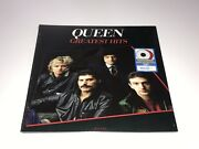 Queen Greatest Hits Limited Red And White Vinyl Record Brian May Freddie Mercury