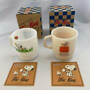 New Fire King Peanuts Snoopy Red Baron Mug Cup Collection Vintage Very Rare