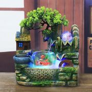 Resin Rockery Water Fountain Lucky Fengshui Ornaments Water Circulation Small Fi