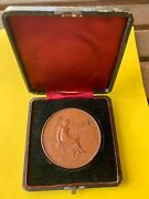 1887 Medal Philippines Exposition In Madrid, W/ Case, Bronze B-711, H-30a Rare