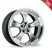 19x8.5 Ace C053 Trend Hyper Silver With Machined Lips Wheels 5x115 High S9
