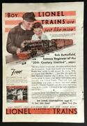 1932 Lionel No. 433 E Ad Bob Butterfield 20th Century Limited Engineer