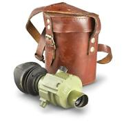 Scope Monocular W/ Leather Case Yugoslavian Military Surplus Issue Collectible
