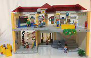 Playmobil Furnished School House Building Playground People Furniture Play Set