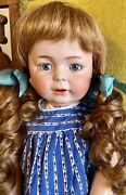 22andrdquo Antique German Bisque Simon Halbig 1489 Erika Doll W/great Outfit