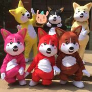 Dog Mascot Costume Solid Color Fancy Dress Cosplay Dog clothes Adult Costume