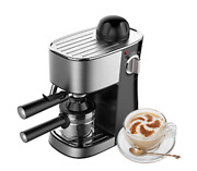 3.5 Bar Black Espresso Coffee Maker 4-cup Machine Included Removable Drip Tray
