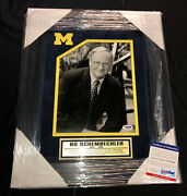 Bo Schembechler Signed 8x10 Photo Michigan Wolverines Framed Psa/dna Coa Ac91928