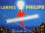 Igert Paul Philips Lamps Large Size Vintage Poster Of 1955