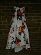 Coast Floral Printed Midi Dress Size 10 Bnwt Rrp Andpound169 1586
