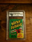 Rare 1974 Topps Wacky Packages Wax Pack 9th Series Psa Gai 8.5 From Topps Vault