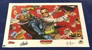 Mars Attacks Stan Strikes Stan Lee Litho Signed By Stan Lee W/ Coa And Joe Jusko