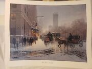 Wow Rare G Harvey Signed Print The Plaza New York Andrdquo Limited Edition Fine Art