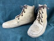 1910-20 Vintage Yip-si Moccasins Ypsalanti Native American Indian Shoes