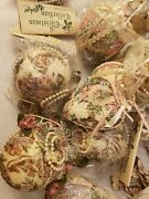 Vintage Christmas Collection Ornaments Fabric Roll Floral Lace Ornaments New