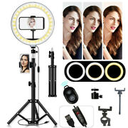 10 Led Selfie Ring Light Tripod Stand And Phone Holder Remote Live Stream/makeup