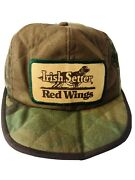 Vintage Red Wing Boots Trucker Hunting Camo Ear Flaps 6 Panel Hat Cap Usa L