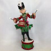 Nutcracker Standing On Drum -16.5'' Inches In Height - By Katherine's Collection