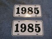 1985 Year License Plates Fits Buick Cadillac Chevrolet Pontiac Oldsmobile 2pc