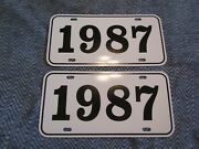 1987 Year License Plates Fits Buick Cadillac Chevrolet Pontiac Oldsmobile 2pc