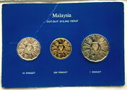 Malaysia 1976 5-year Plan Set Of Gold Silver Coins,proof,rare