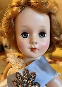 """17"""" Vintage Nancy Ann Style Show Hard Plastic Doll In Tagged Outfit Reduced"""