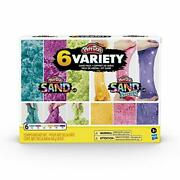 Play-doh Sand Variety 6-pack Shimmer Stretch Compounds 4oz Cans 3-tools Aug.1,20