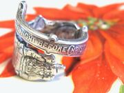 Vintage Gorham Sterling Silver Twas The Night Before Christmas Wrap Ring W Box