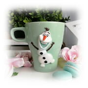 Decorated Frozen Snowman Mug Handmade Unique Tea Coffee Cup Personalized Gift