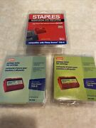 Qty 3 Staples Postage Meter Inkjet Cartridge Sipb-10 Pitney Bowes Compatible