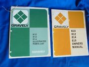 1974 Gravely 810 812 814 816 Lawn And Garden Tractor Operator Manual + Parts List