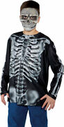 X-ray Photo Real Top Skeletons Zombies Halloween Shirt Costume Child Boys