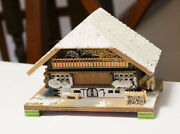 Vintage Rare Bambi German Winter Chalet Music Box Jewelry West Germany