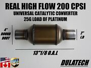 High Flow Diesel Universal Catalytic Converter 4andrdquo Round - 2 I.d With 25g Load